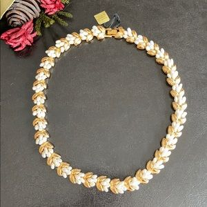 Baroque freshwater pearl floral necklace